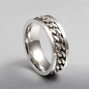 NWOT Unisex Stainless Steel Chain Ring